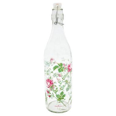 GreenGate Glazen Fles / Glass Bottle Constance White H:32cm
