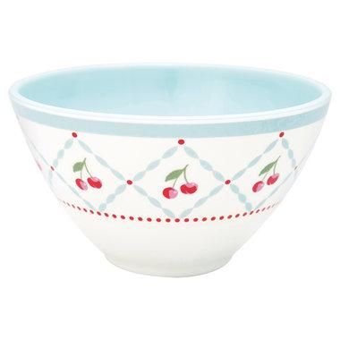 GreenGate Melamine Kommetje / Cereal Bowl Cherie White D: 14 cm