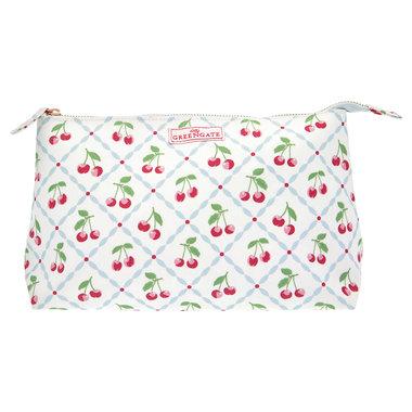 GreenGate Toilettas / Cosmetic bag Cherie White Large 15x26cm