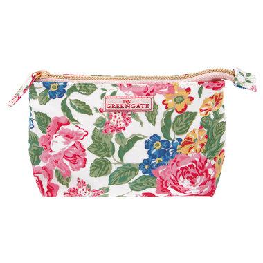 GreenGate Toilettas / Cosmetic bag Emmaline White Small 11x18cm
