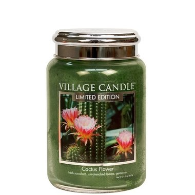 Village Candle Limited Edition Cactus Flower 737gr Large Candle