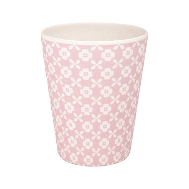 GreenGate Bamboe Beker / Bamboo Cup Helle Pale Pink H: 9,5cm
