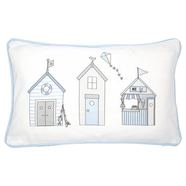 GreenGate Sierkussen / Cushion Ellison Pale Blue pieceprinted 30x50cm