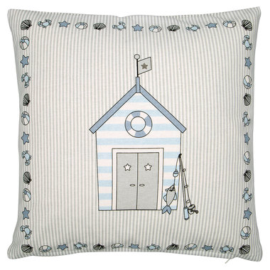 GreenGate Sierkussen / Cushion Ellison Pale Blue pieceprinted 40x40cm