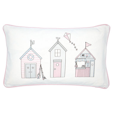 GreenGate Sierkussen / Cushion Ellison Pale Pink pieceprinted 30x50cm
