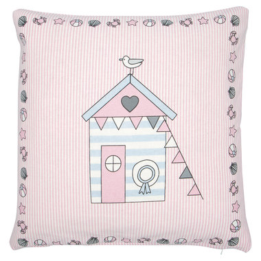GreenGate Sierkussen / Cushion Ellison Pale Pink pieceprinted 40x40cm