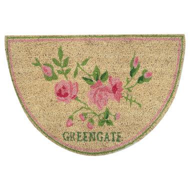 GreenGate Deurmat / Doormat  Ottilia white half round 40x60cm