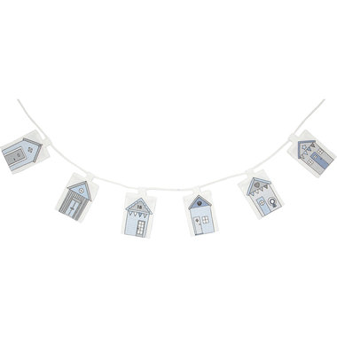 GreenGate Kinderkamer decoratie guirlande / Flag garlande Ellison pale blue