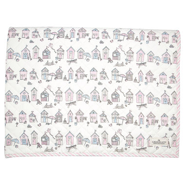 GreenGate Baby Speelkleed / Kids bed cover Ellison Pale Pink 120x120cm