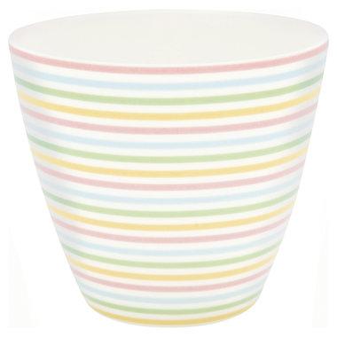GreenGate Mokje / Latte cup Ansley White H: 9cm