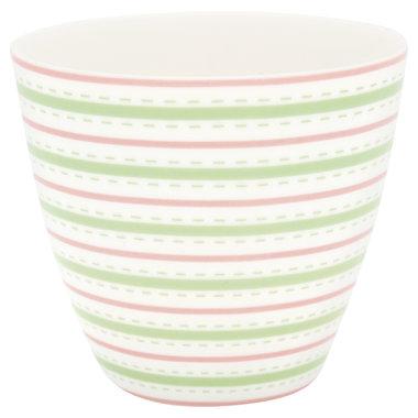 GreenGate Mokje / Latte cup Sari White H: 9cm