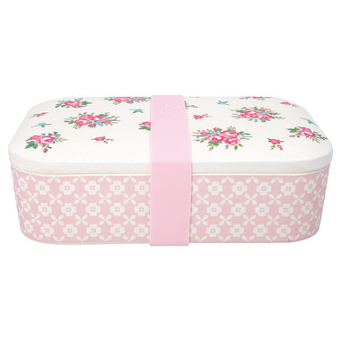 GreenGate Bamboo Lunch box Constance White 6,5x12,8x19,6cm