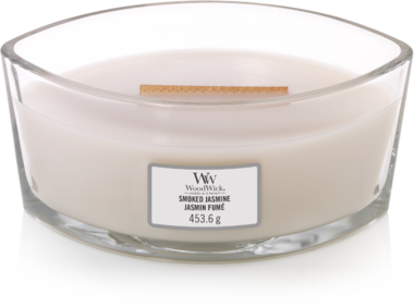 WoodWick® HearthWick®  Smoked Jasmine Ellipse Ceramic