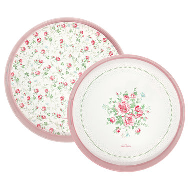 GreenGate Dienblad / Tray Constance White round set of 2