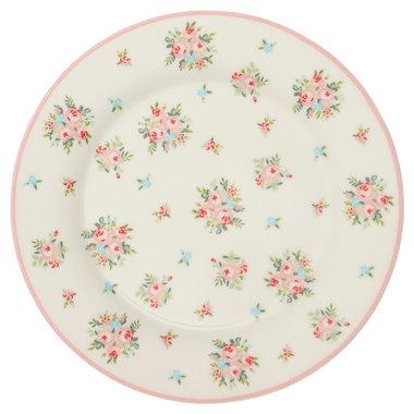 GreenGate Ontbijtbord / Plate Abigail White D:20,5cm