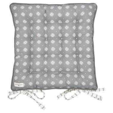 GreenGate Stoelkussen /  Seat cushion Saga warm grey large