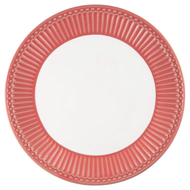 GreenGate Ontbijtbord / Plate Alice Coral D:23cm