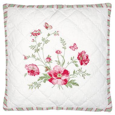 Sierkussen Hoes Meadow wit w/embroidery 40x40cm