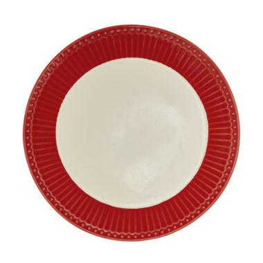 GreenGate Stoneware Plate Alice Red