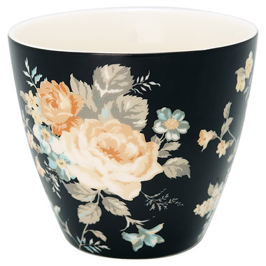 GreenGate Latte cup Josephine Black H : 9cm