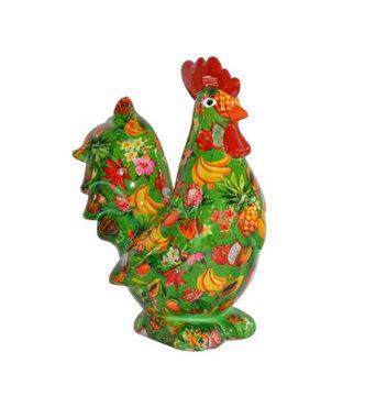 Pomme-Pidou Spaarpot Rooster Maurice Groen met fruit
