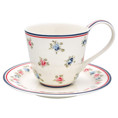GreenGate Cup & Saucer Hailey white H: 9 cm
