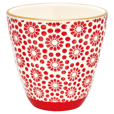 GreenGate Cup Kelly red w/gold H: 9 cm