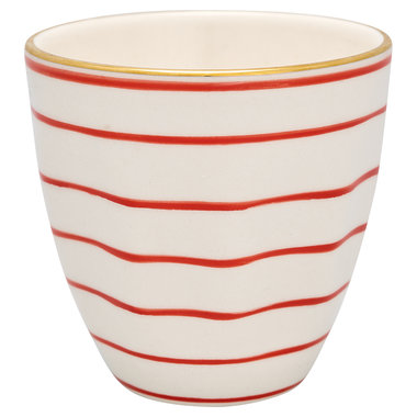 GreenGate Cup Sally red w/gold H: 9 cm