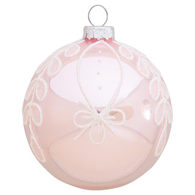 GreenGate Ball glass  Marley rose w/glitter