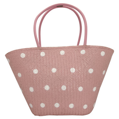 GreenGate Basket bag Spot pale pink