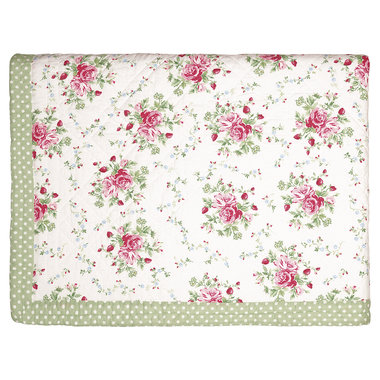 GreenGate Quilted Bed cover Mary white 140x220cm