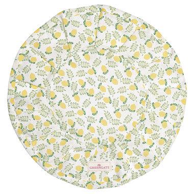 GreenGate Bread basket napkin round Limona petit white