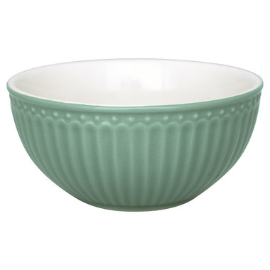 GreenGate Everyday Alice Cereal Bowl Alice Dusty Green D:14cm
