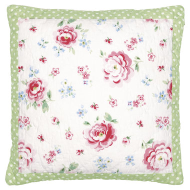 GreenGate Cushion Cover Meryl mega white 40x40cm