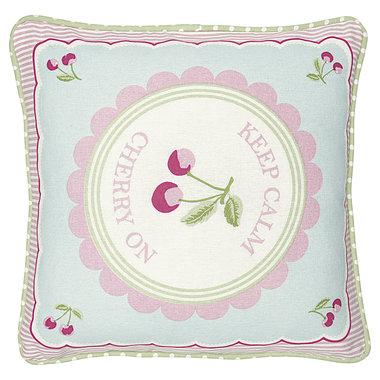 GreenGate Cushion Cover pieceprinted Cherry mega white 40x40cm