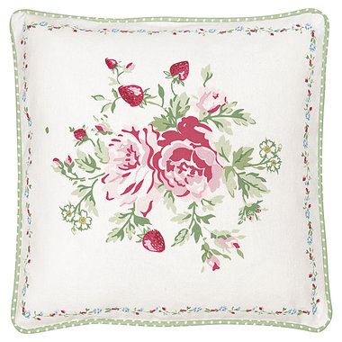 GreenGate Cushion Cover pieceprinted Mary white 40x40cm