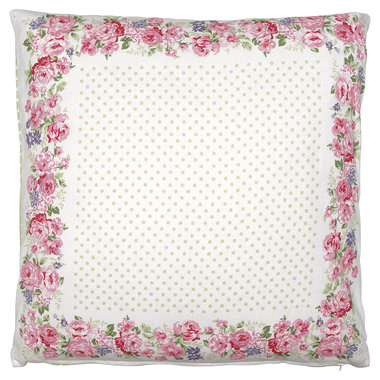 GreenGate Cushion Cover pieceprinted Rose white 50x50cm