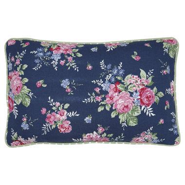 GreenGate Cushion Cover Rose dark blue 30x50cm