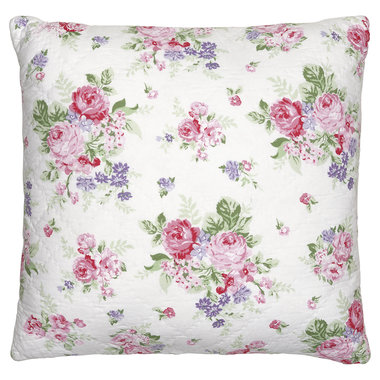 GreenGate Quilted Cushion Cover Rose white 50x50cm