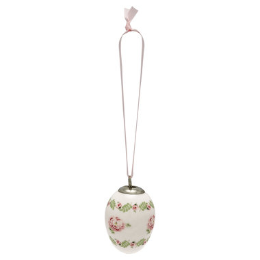 GreenGate Decorative egg Lily petit white set of 2 ass hang