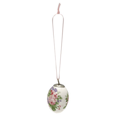GreenGate Decorative egg Rose white set of 2 ass hang