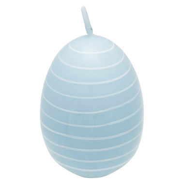 GreenGate Candle Easter egg Stripe Pale blue H: 7cm