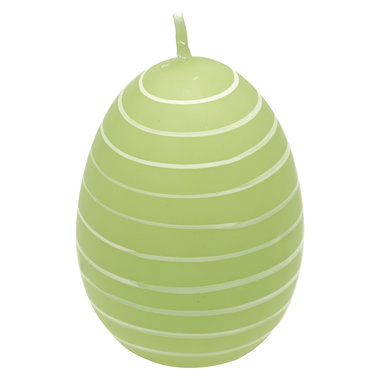 GreenGate Candle Easter egg Stripe Pale green H: 7cm