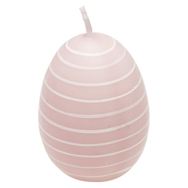 GreenGate Candle Easter egg Stripe Pale pink H: 7cm