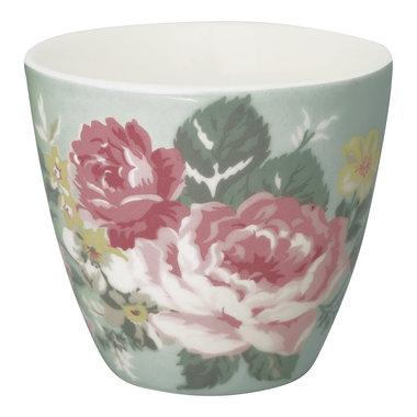 GreenGate Stoneware Latte Cup Josephine Pale Mint H: 9cm
