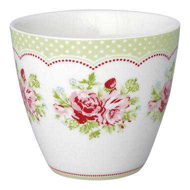GreenGate Stoneware Latte Cup Mary White H: 9cm