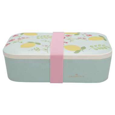 GreenGate Bamboo Lunch box Limona Pale Blue 6,5x12,8x19,6cm