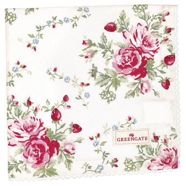 GreenGate Cotton Napkin with lace Mary White 40x40cm