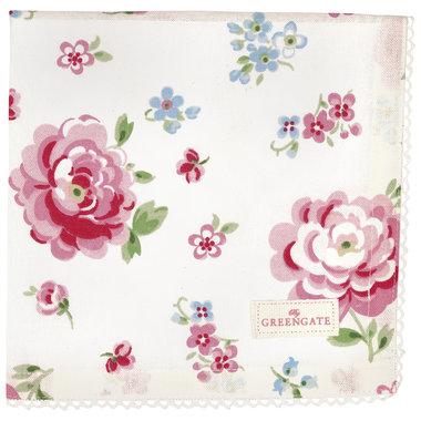 GreenGate Cotton Napkin with lace Meryl Mega White 40x40cm