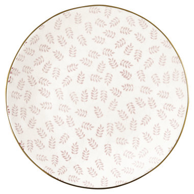 GreenGate Plate Lianna Pale Pink w/Gold D:21cm